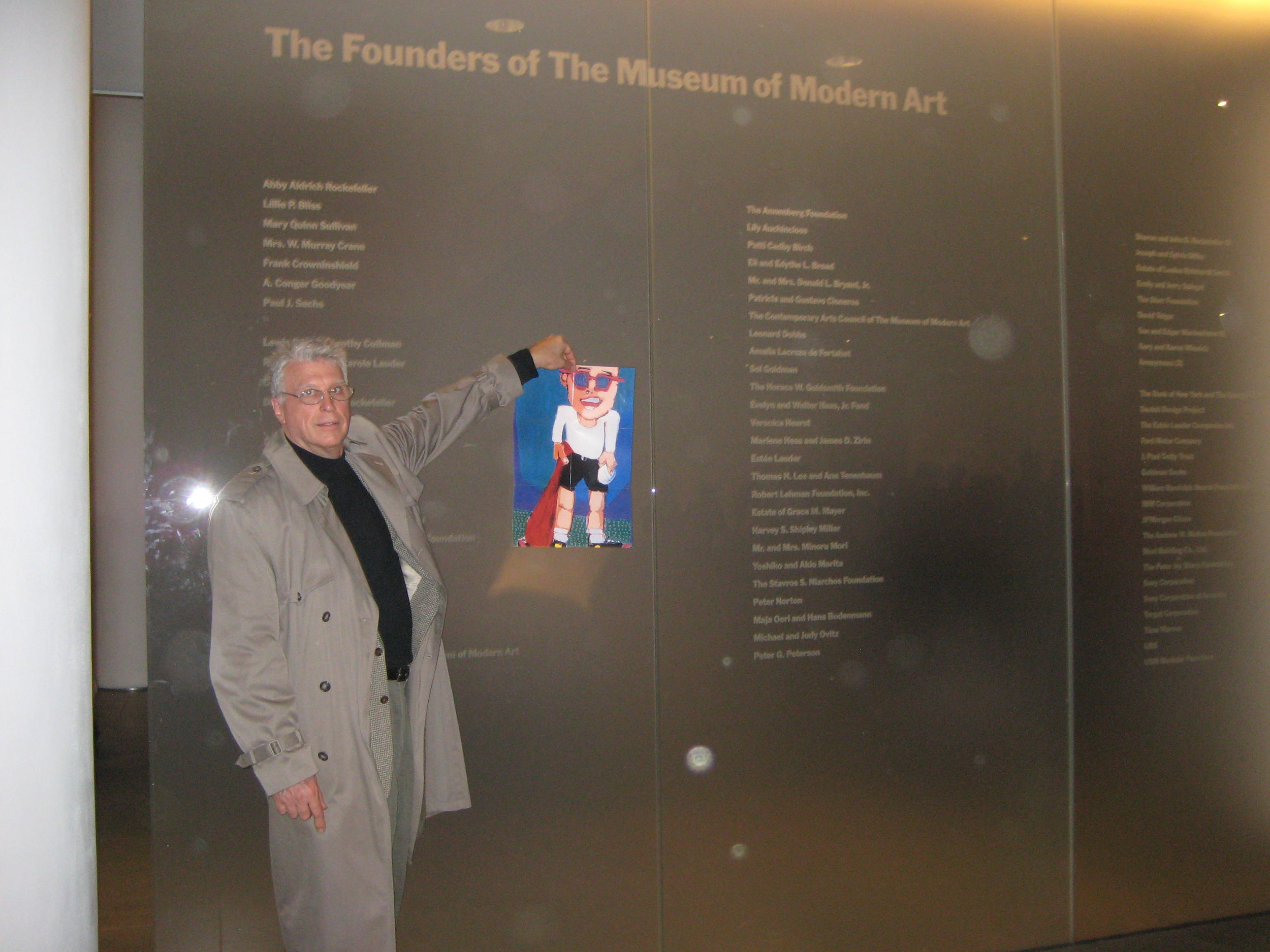 GA FOG 2008 Anderson at MOMA, with Bat Boy IMG_1204.JPG