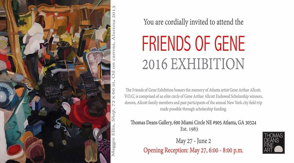 2016 FOG Exhibit Invitation, Maggie Ellis artist