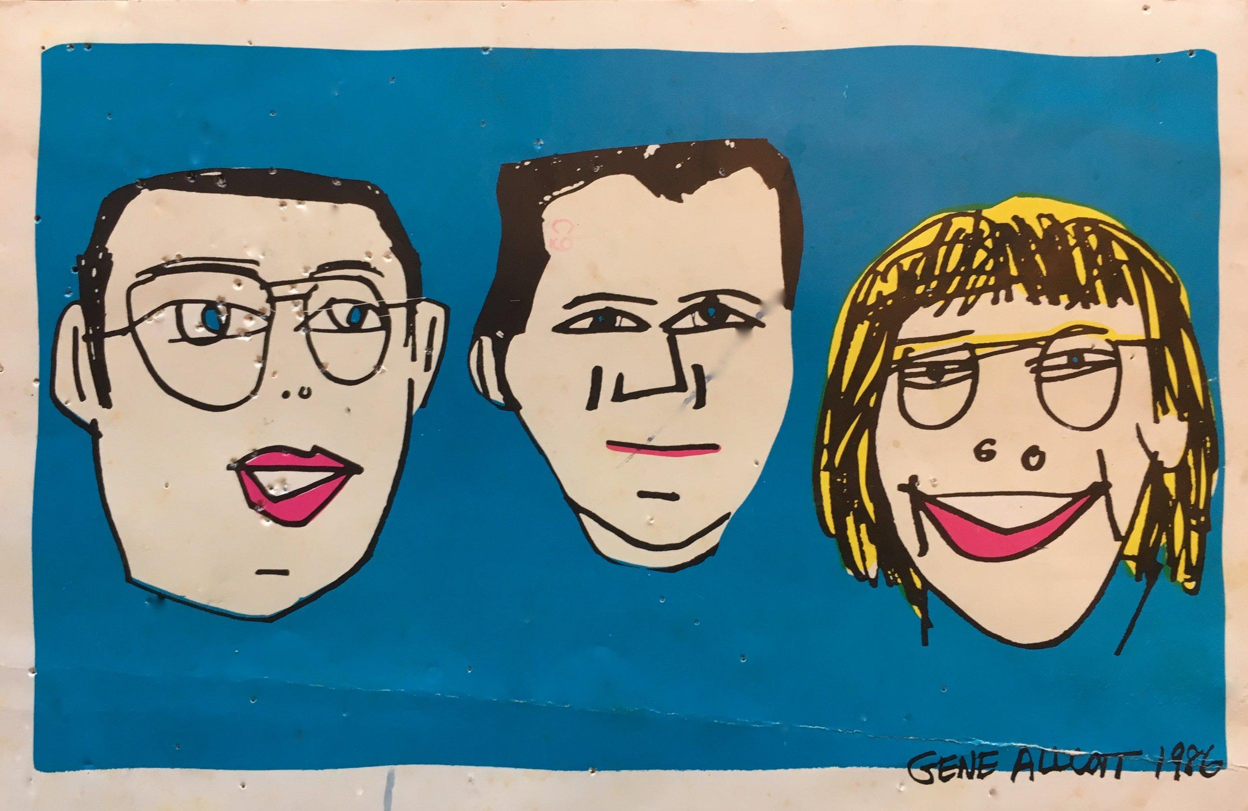 Ersatz Gallery Group: Gene Allcott, Jere Brookshire and Dennis Darling, 1986