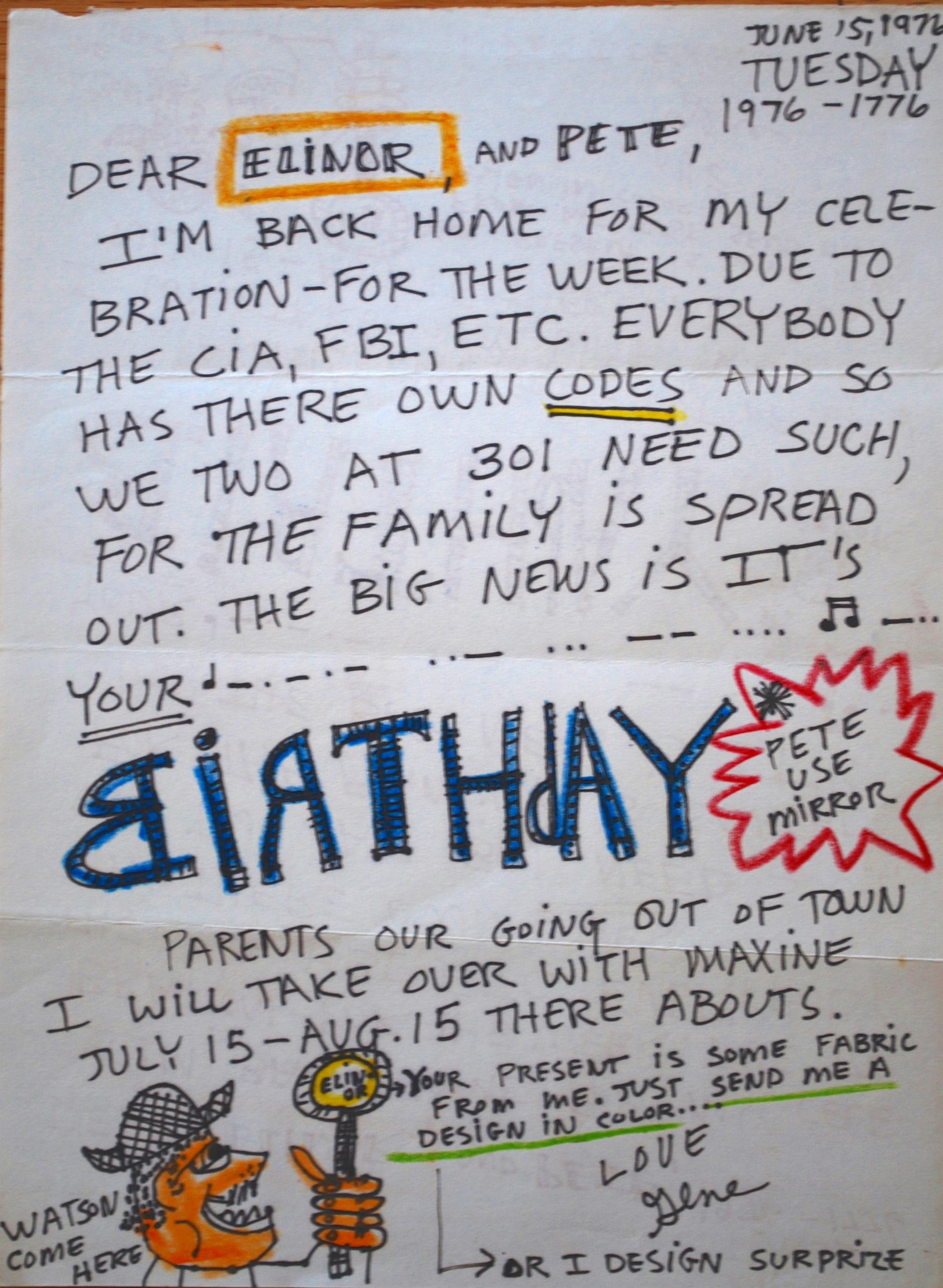 Birthday Letter, 1976