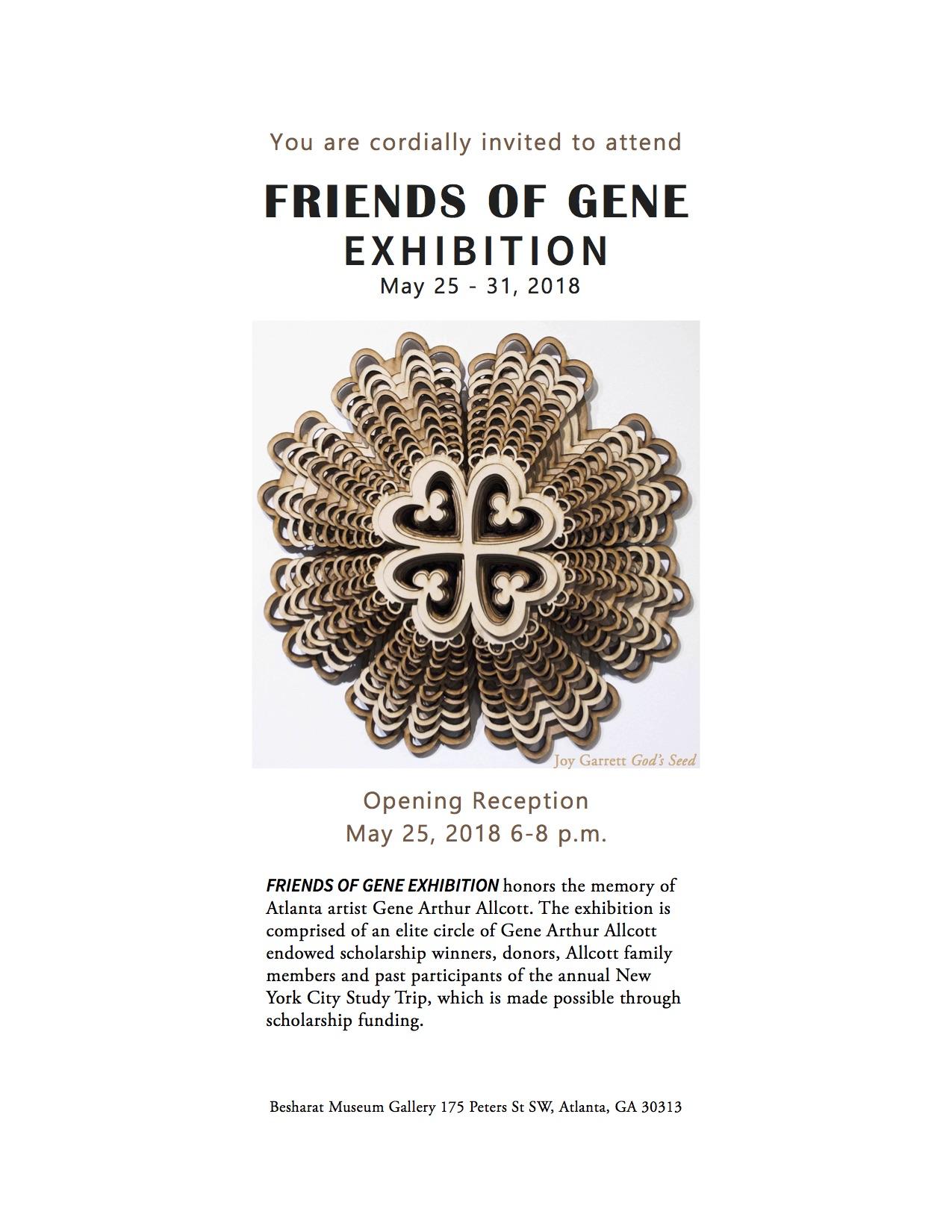 2018 FOG Exhibit Invitation, Joy Garrett's God Seed