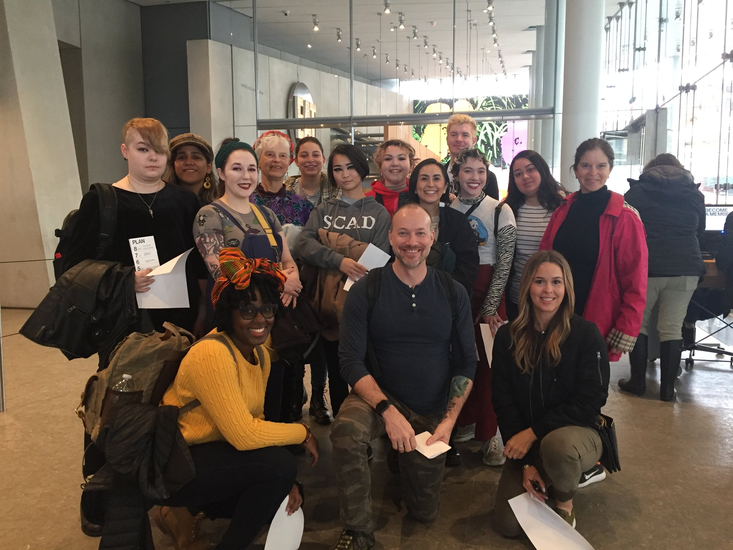 2019 Trippers + Prof Linstrum at the Whitney