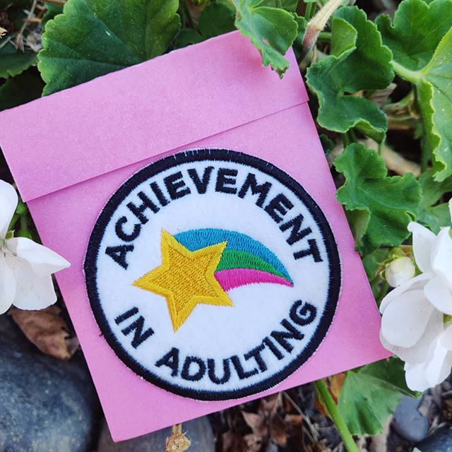 I hope ya'll  are enjoying your weekend 🌈. Make sure to pat yourself on the back, you deserve it after such a long week 🌠. . Adult Achievement Patches are now up in the Shop 🤩. (All items are 15% OFF & all orders $15+ get a free Pin/Patch 😍!) WWW.YARNCIRCUS.COM - -  #amigurumi #crochet #makersmovement #makersgonnamake #adulting #cozy #fiberartist #homegoods #etsy #etsyseller #color #colorful #rainbow #adult #originaldesign #anime #otaku #entrepreneur #selfcare #crafts #yarn #crochetersofinstagram #fabric #art #shoplocal #stockton #209 #shopsmall #yarncircus