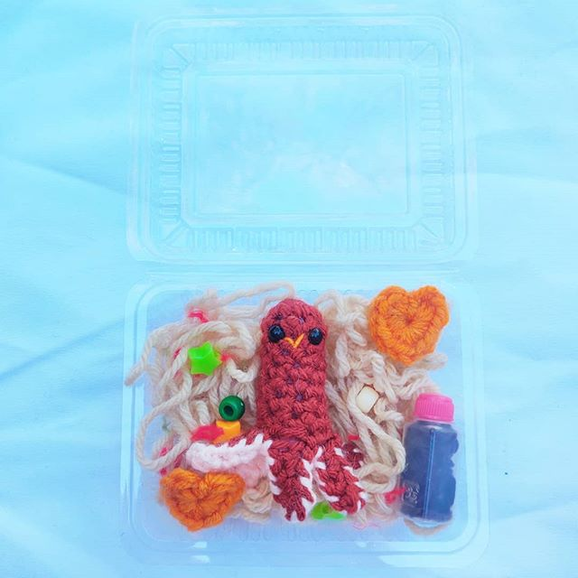 Happy Hotdog Octo Yakisoba 😋. What is your favorite thing to eat for lunch 🍱?