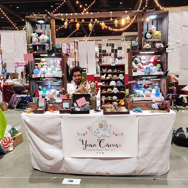 Come see us this weekend at Crunchyroll Expo - Booth 736 ☀️. We have a bunch of new merch & whatnot 👽. - -  #amigurumi #crochet #makersmovement #makersgonnamake #lifestyle #fiberartist #etsy #etsyseller #color #colorful #clothing #originaldesign #otaku #entrepreneur #crafts #yarn #knitwear #artistalley #lionbrandyarn #crochetersofinstagram #art #shoplocal #sanjose #bayarea #shopsmall #yarncircus