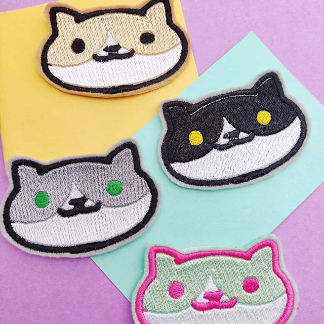 Here kitty kitty ✨🧶. These new cat patches are my favorite 😭. The combos are ENDLESS!! . Mark your calendars 🌟!! Shop officially opens on Sept 8th 🌿. - -  #patch #patchgame #makersgonnamake #makersmovement #flair #fiberartist #cat #cats #neko #nekoatsume #anime #otaku #entrepreneur #catsofinstagram #crafts #yarn #crochetersofinstagram #yarncircus