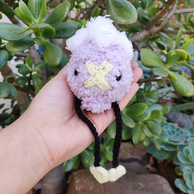 I was visited by several fluffy ghosts today 🌿. They told me they would like to haunt other homes 🍃. . . So, Fluffy Drifloons are up on the shop now 💜. Adopt a new friend 🎈. Who doesn't want a haunted house 😉? - -  #amigurumi #amigurumidoll #amigurumilove #crochet #crochetersofinstagram #crocheteveryday #crochetaddict #crochetlover #maker #makersgonnamake #makersmovement #yarn #yarnlove #pokemon #drifloon #ghostpokemon #color #colorful #rainbow #stuffedanimal #cozy #yarncircus
