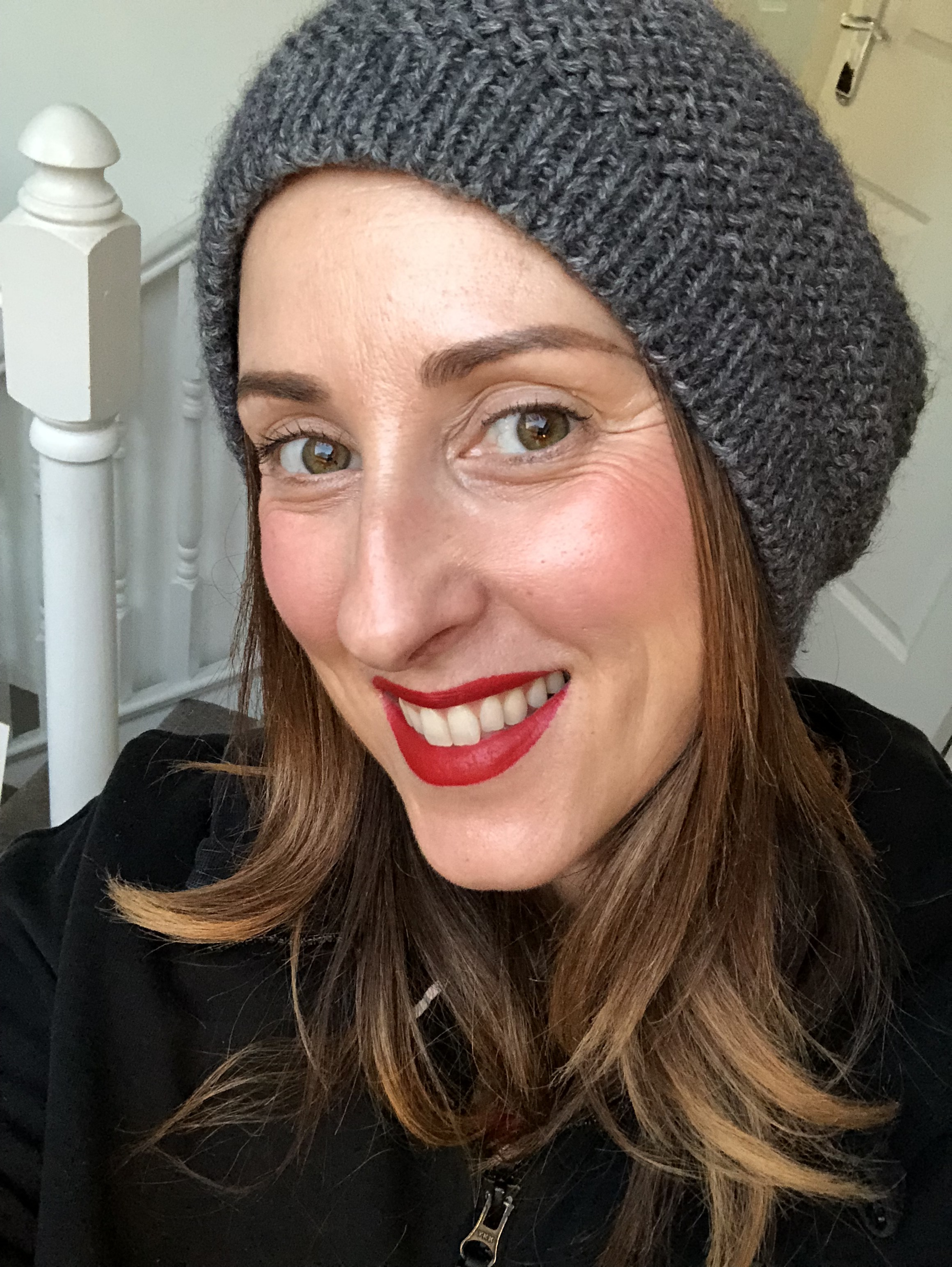 Even with no eye makeup and just blusher you can look easily pulled together with a red lip, even in a hoodie and wooly hat! lol! this is my Sunday look. This colour is Bobbi Brown Lip pencil in Red with Edwin from Lips and Boys from Tom Ford Beauty