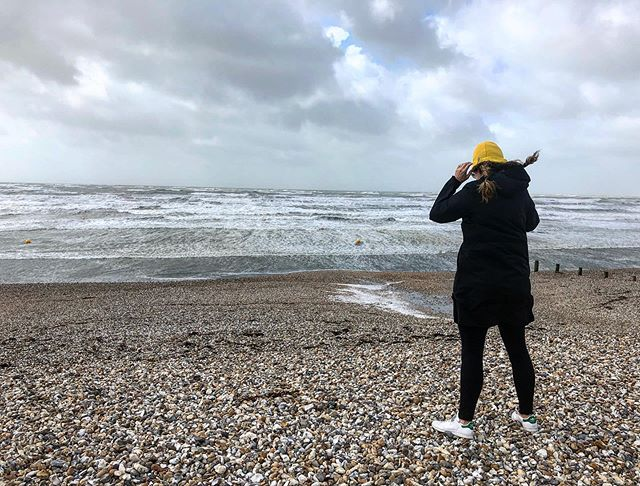 Hold onto your hats people! It's blowing a gale! I have never seen anything quite like it and it's pretty awe inspiring down on the coast. #coast#beach#weekend#uk#southcoast#brackleshambay#travel#wanderlust#adventure#outdoors#love#saturday