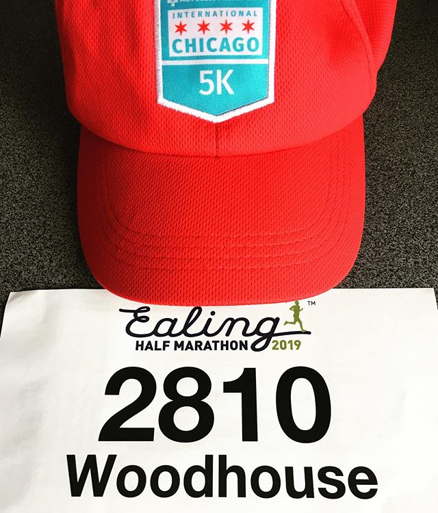 This is my lucky hat for race day my number. For those of you who want to cheer me on I'm running the ealing half marathon tomorrow. This will be my longest distance yet and I'm mega excited. I'm raising money for The Solent MS centre and the link is in my bio. A HUGE THANK YOU to all my friends and family from near and for for your donations and encouragement. Now I'm off to eat all the carbs I can. Lol! 🤞🥰❤️