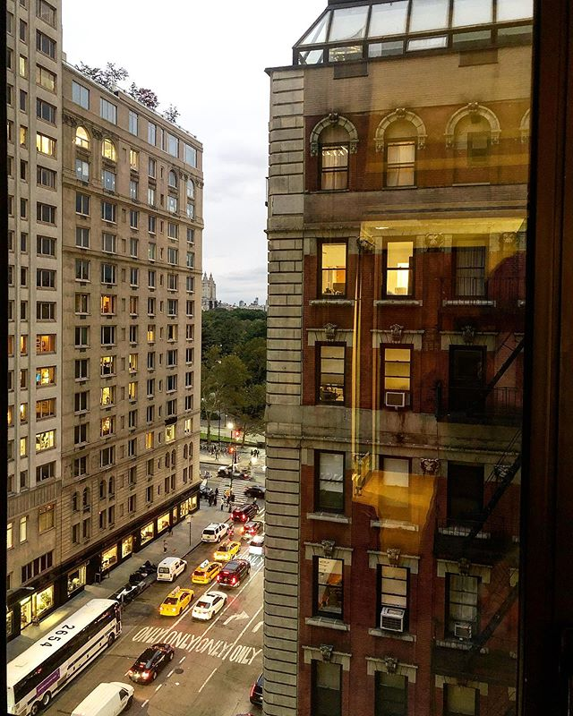 A room with a view. Hello NYC! #lovemyjob#nyc#travel#wanderlust#love#citylife#cityscape#roomwithaview