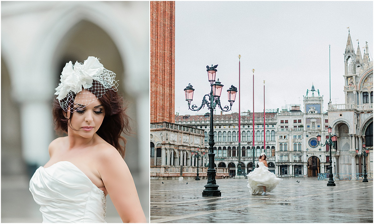 Bride dancing in Piazza San Marco Venice Italy Kate Marie Portraiture.jpg