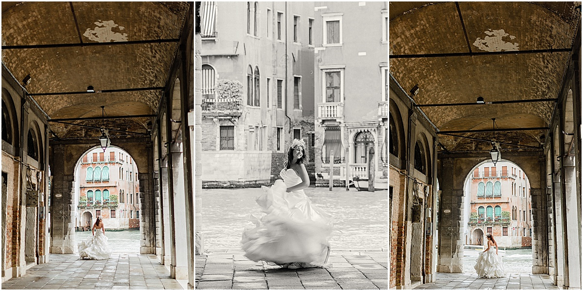 Bride under archway Venice Italy Kate Marie Portraiture.jpg
