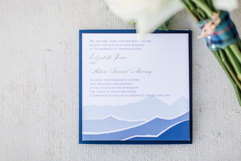 Dallas Wedding Photographer Glassy Mountain Chapel Greenville South Carolina invitation scottish wedding kate marie portraiture.png