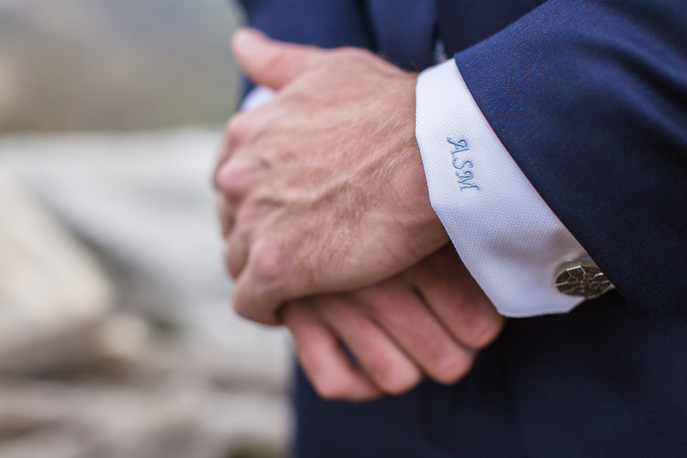 Dallas Wedding Photographer Glassy Mountain Chapel Greenville South Carolina scottish wedding grooms details cuff link and personalized shirt cuff kate marie portraiture.png