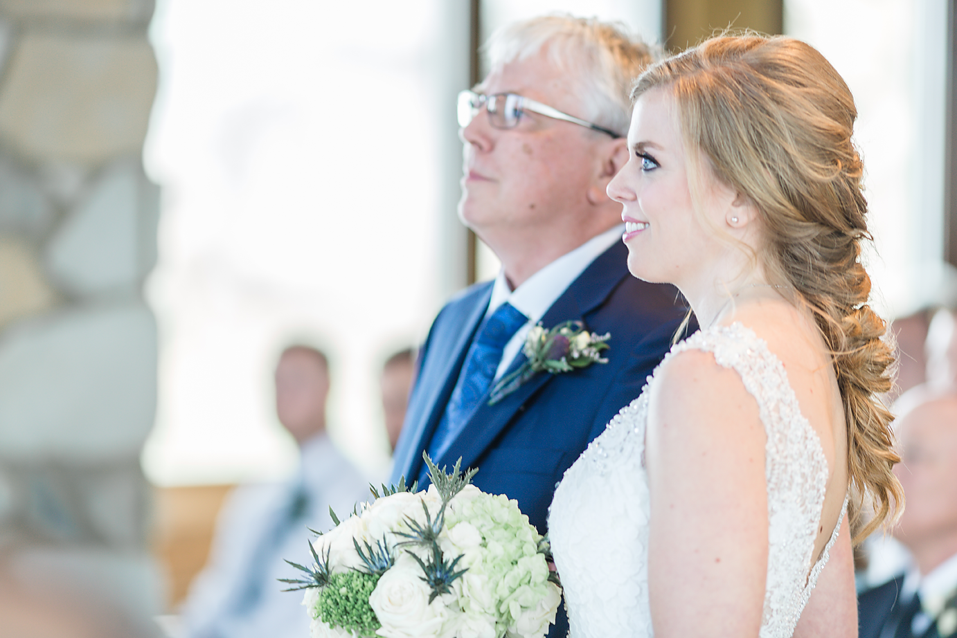 Dallas Wedding Photographer Glassy Mountain Chapel Greenville South Carolina scottish wedding bride and father of the bride ceremony kate marie portraiture.png
