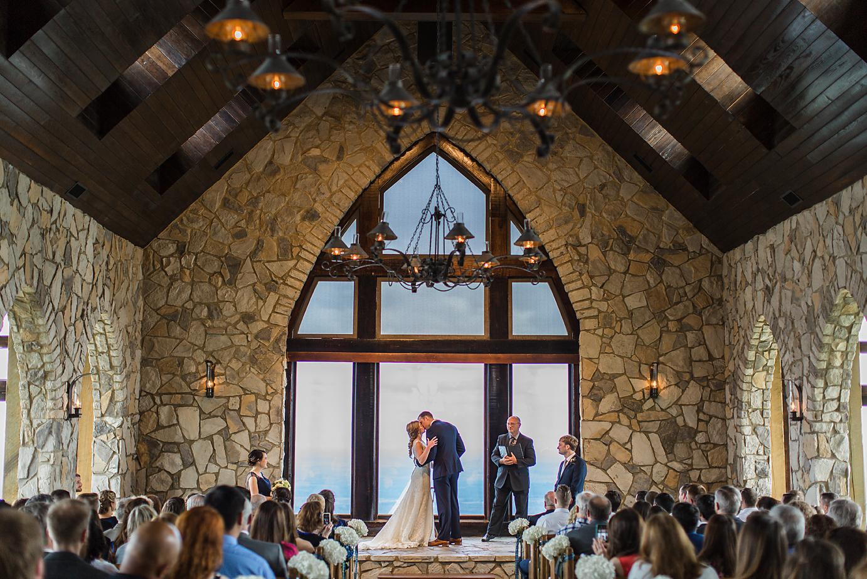 Dallas Wedding Photographer Glassy Mountain Chapel Greenville South Carolina scottish wedding first kiss kate marie portraiture 2.png