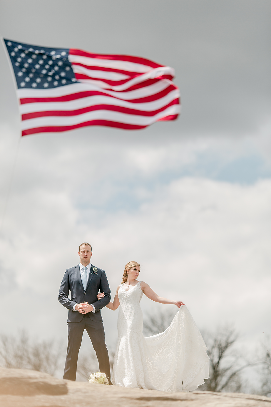 Dallas Wedding Photographer Glassy Mountain Chapel Greenville South Carolina scottish wedding bride and groom american flag kate marie portraiture.png