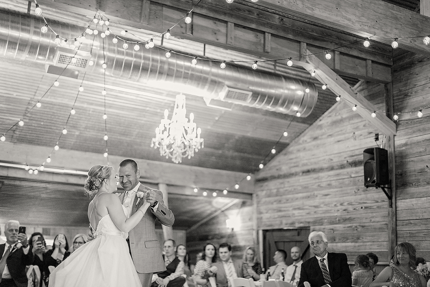 Dallas Wedding photographer Rustic Grace Estate first dance Kate Marie Portraiture bw.png