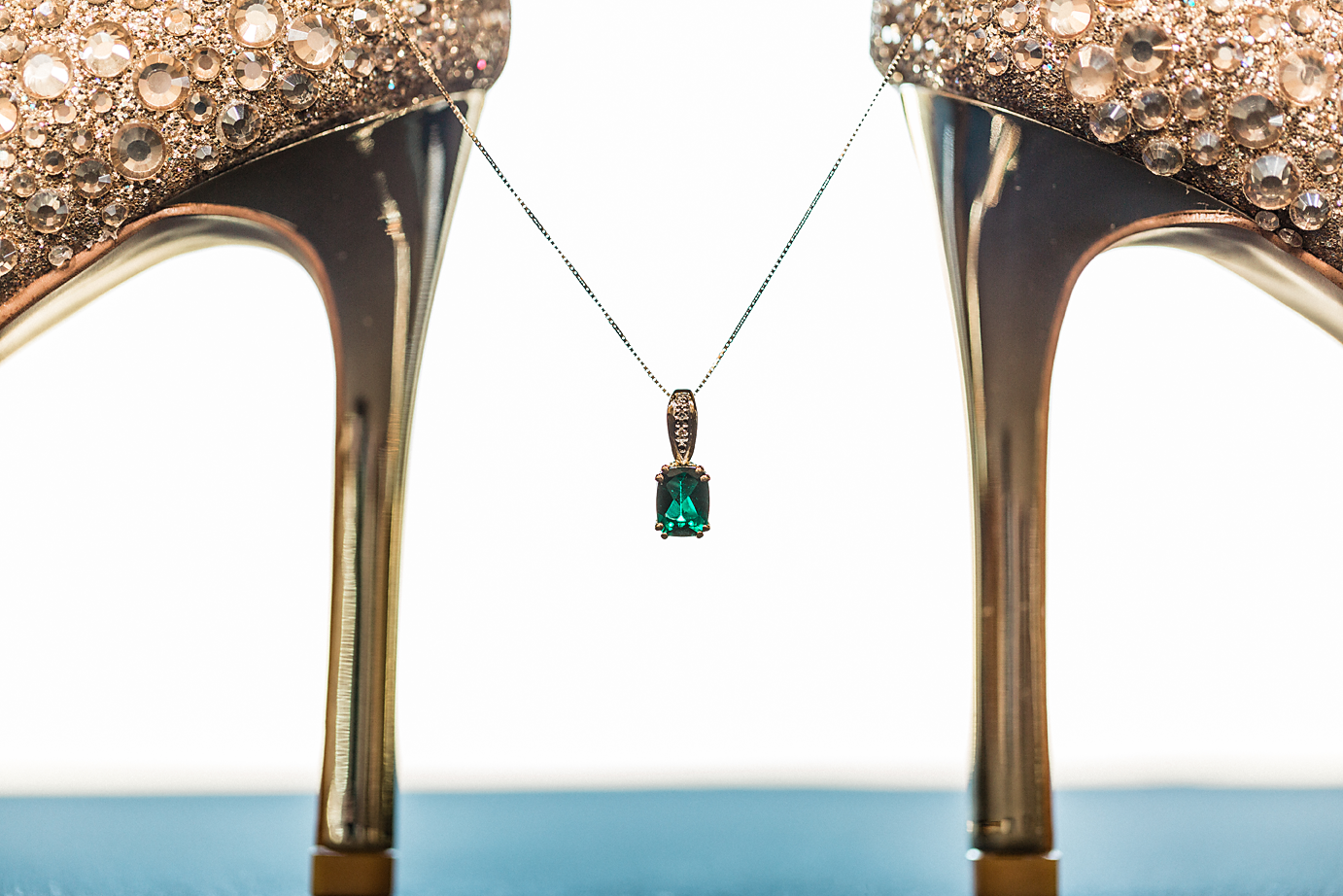 Dallas Wedding photographer Las Colinas Country Club brides shoes and necklace Kate Marie Portraiture.png