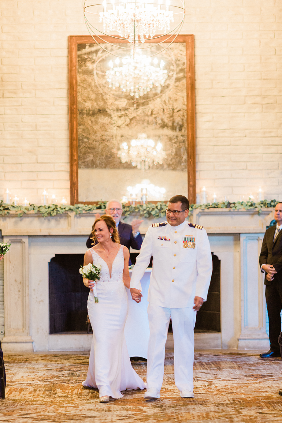Dallas Wedding photographer Las Colinas Country Club bride and groom walking down aisle Kate Marie Portraiture.png