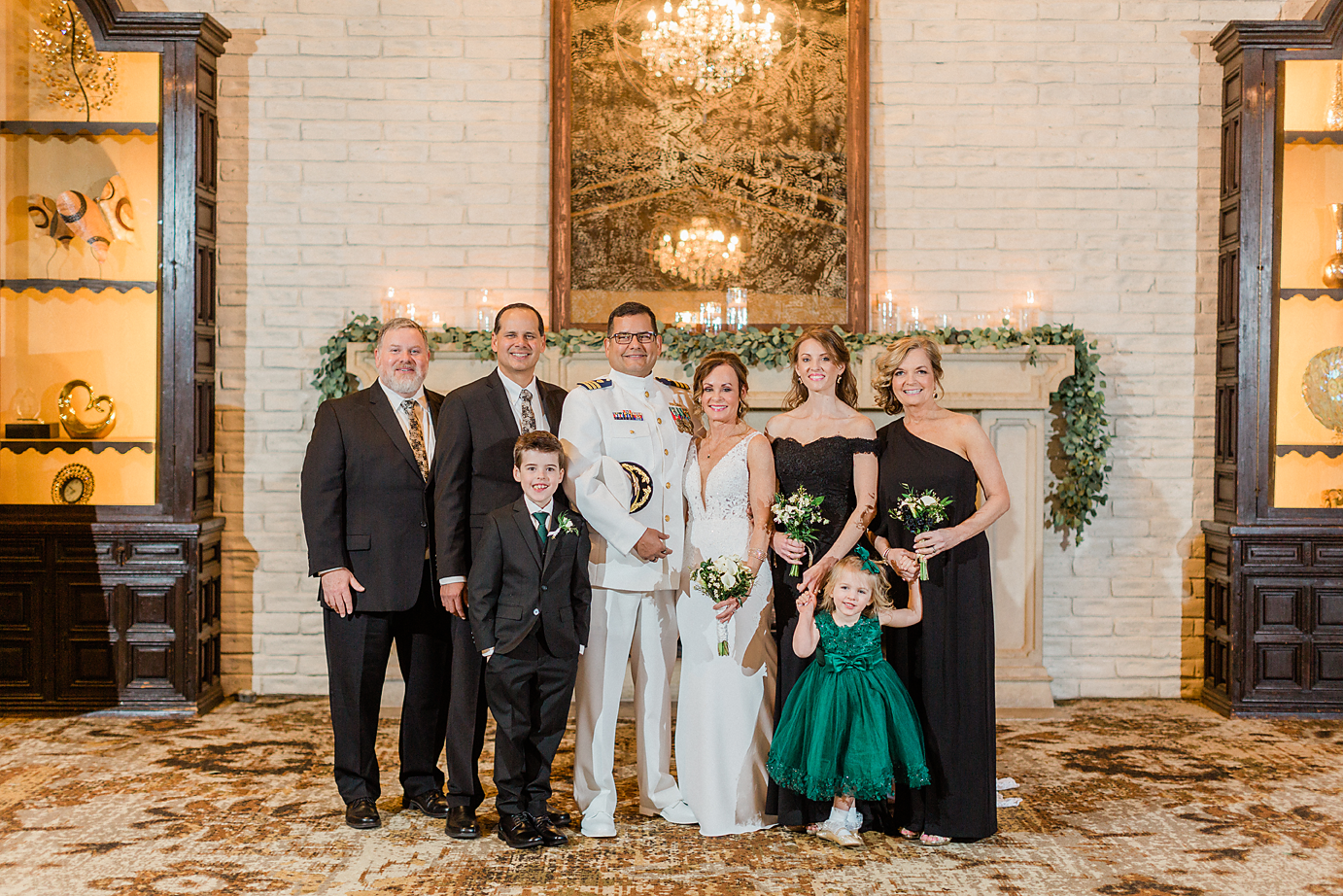 Dallas Wedding photography Las Colinas Country Club wedding party formal portrait Kate Marie Portraiture.png
