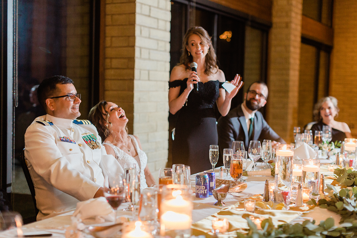 48 Dallas Wedding photography Las Colinas Country Club reception toasts Kate Marie Portraiture.png