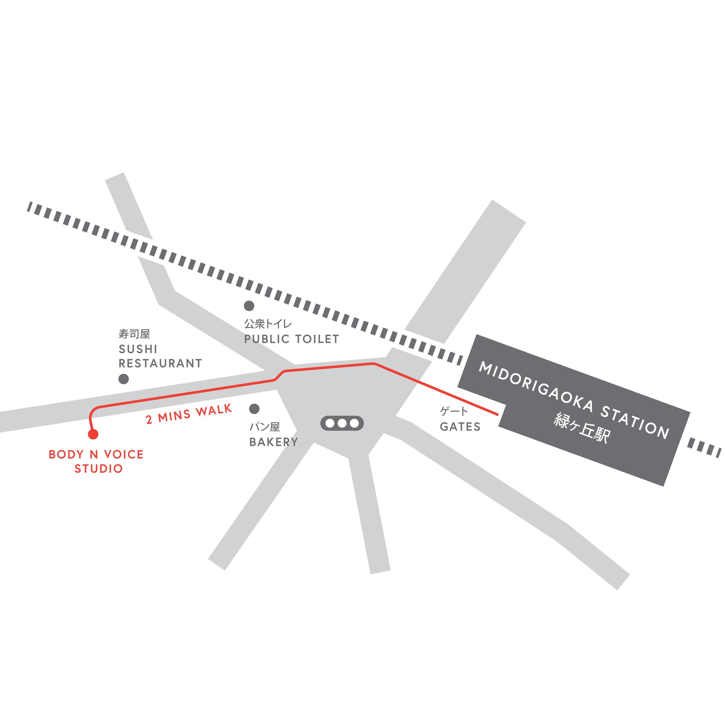 Midorigaoka - A 2 minute walk from Midorigaoka Station, also on the Tokyu Oimachi Line.