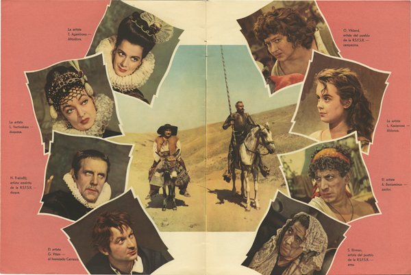 Rafael Gil acompañado del elenco de actores de la película Don Quijote de la Mancha, 1948. Filmoteca Española