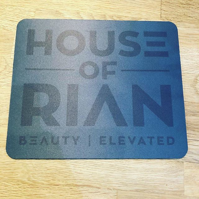 The house mouse pad! 😆🖤 #houseofrian #rianmiller #beauty #homebusiness