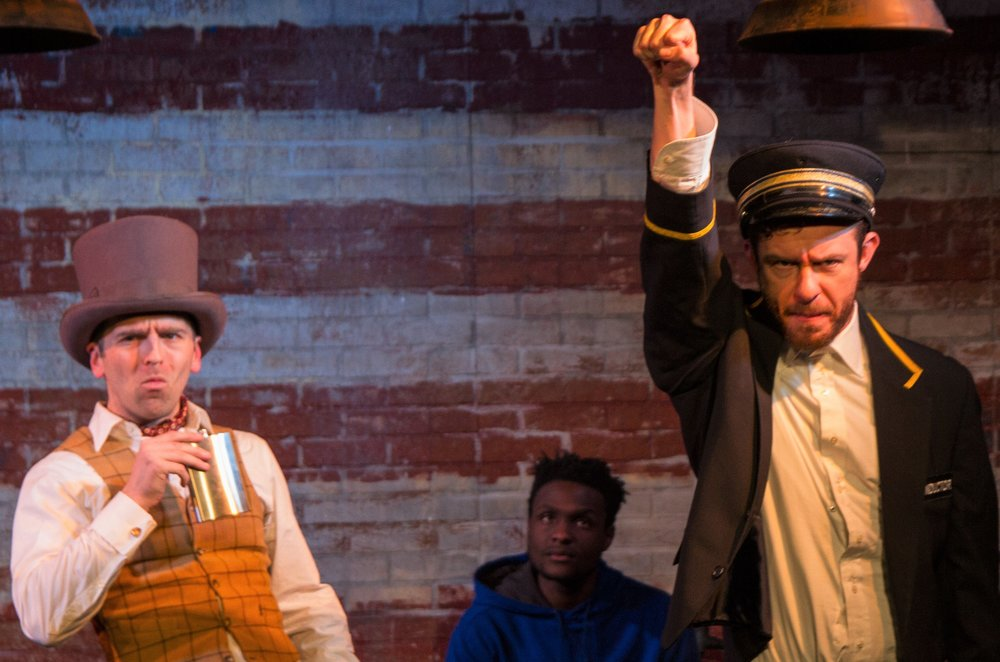 Alex Herrald, Martin K. Lewis and Hunter Canning in  The American Tradition  (Photo credit:  Jody Christopherson )