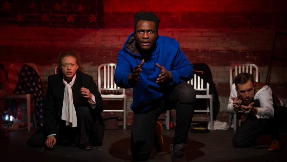Sydney Cole Alexander, Martin K. Lewis, and Alex Herrald in  The American Tradition  (photo credit:  Jody Christopherson )