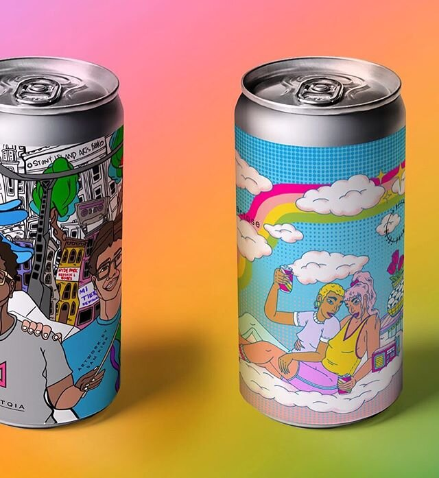 Designed for the Marz Brewing Company's Gay IPA