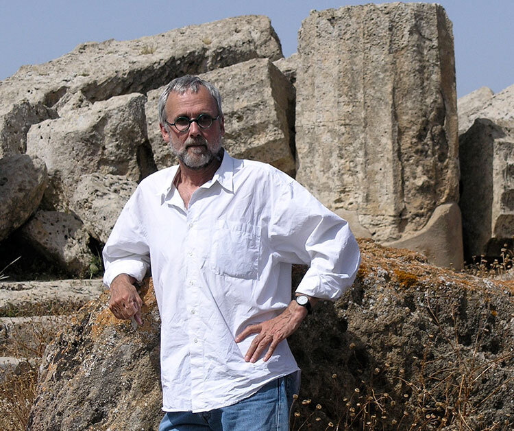 David Ligare at the ruins of Selinunte in Sicily - Photo by Gary Smith