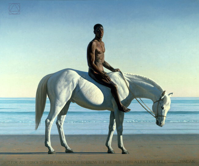"""""""Arete (Black Figure on a White Horse),"""" 2000 