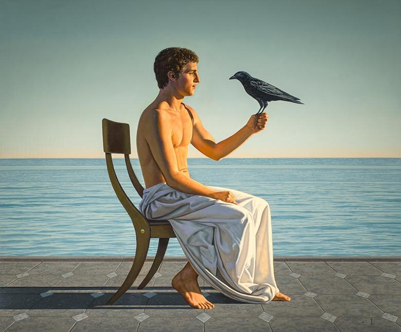 """""""Man with Crow,"""" 2015 