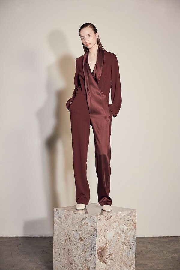 Vega Fluid Crepe Satin Jumpsuit , LEHHO Fall/Winter 2019 collection