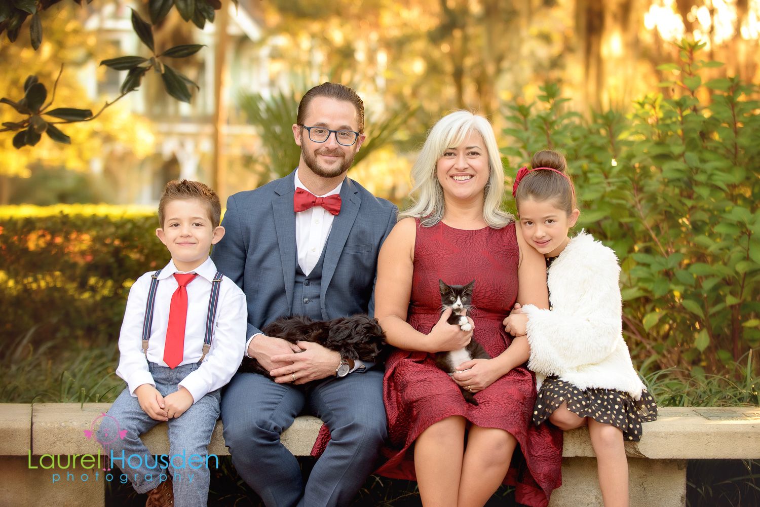 What a treat to be able to photograph the family with their treasured pets. Aren't they adorable!