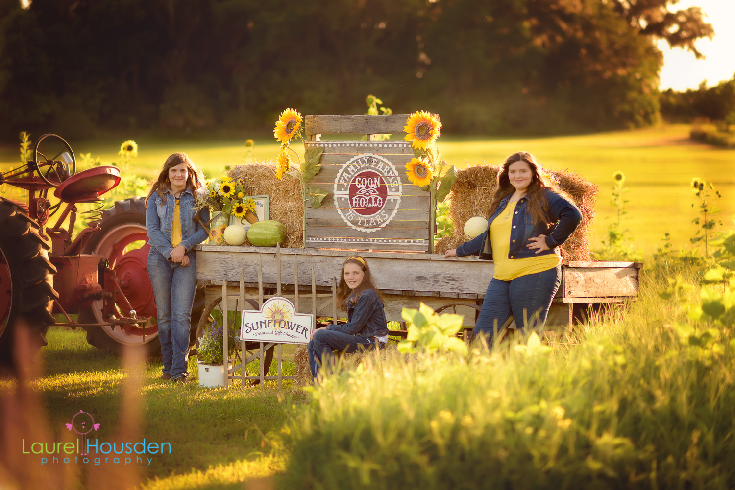 The Perryman Sisters pose in front of their family farm