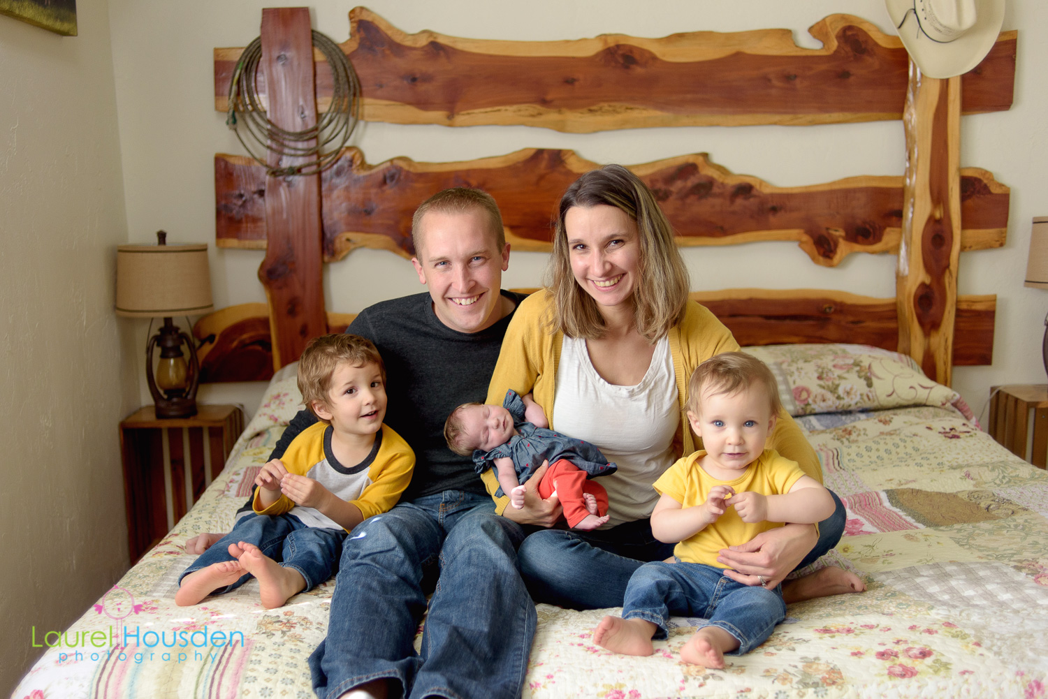 Amanda and Matt with their new expanded family