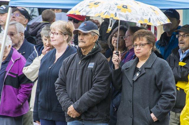 Volunteers attending the Fallen Officer Memorial