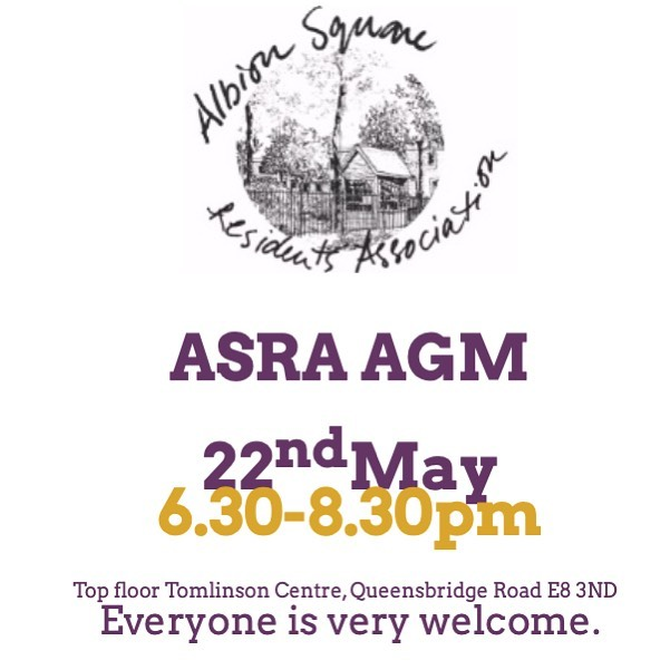 ASRA AGM // 22nd May : All welcome