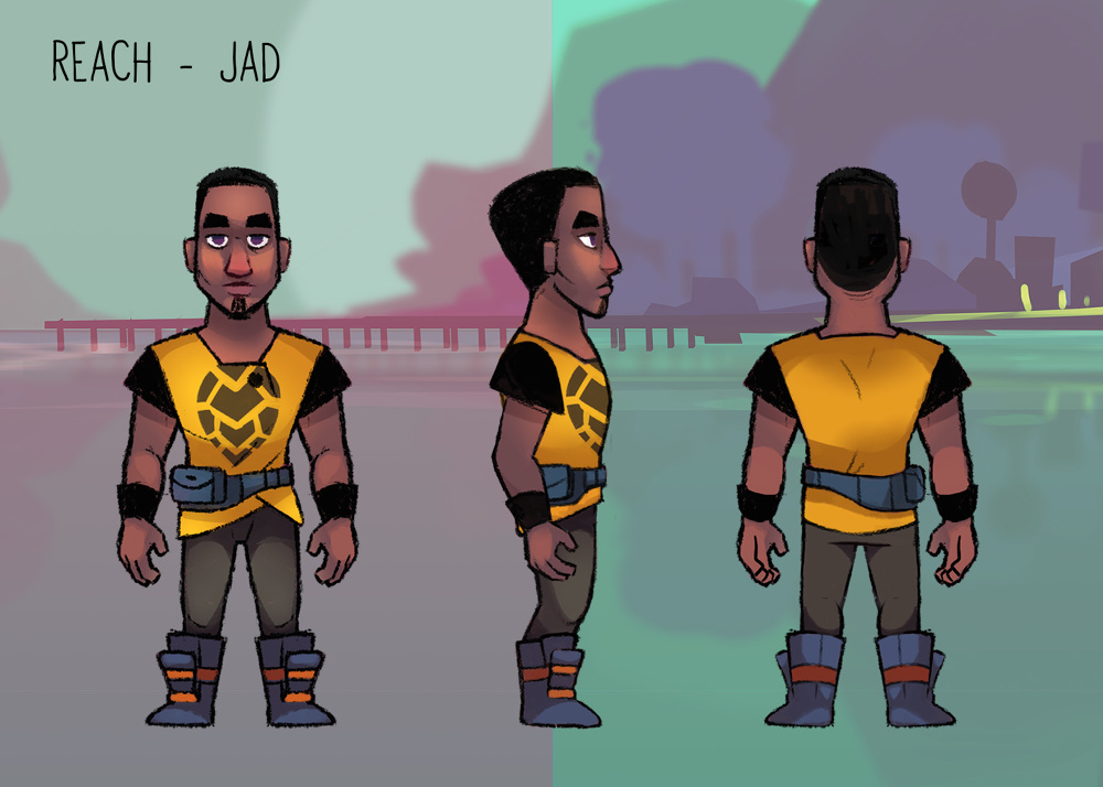 Character designs from a game made in collaboration with FableVision and the Boys and Girls Club of America