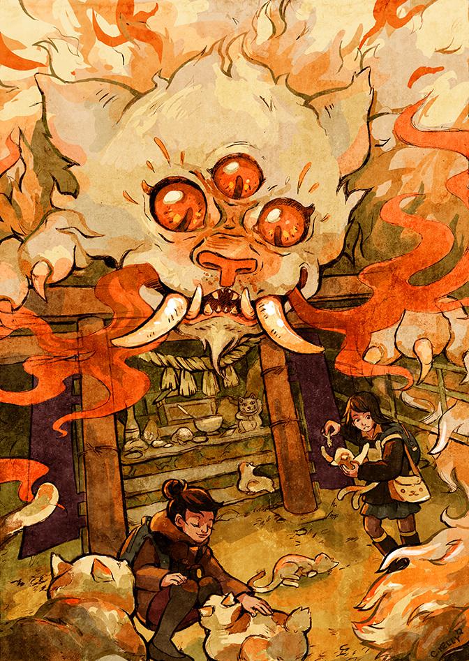 The Terror on Tashirojima Island concept illustration