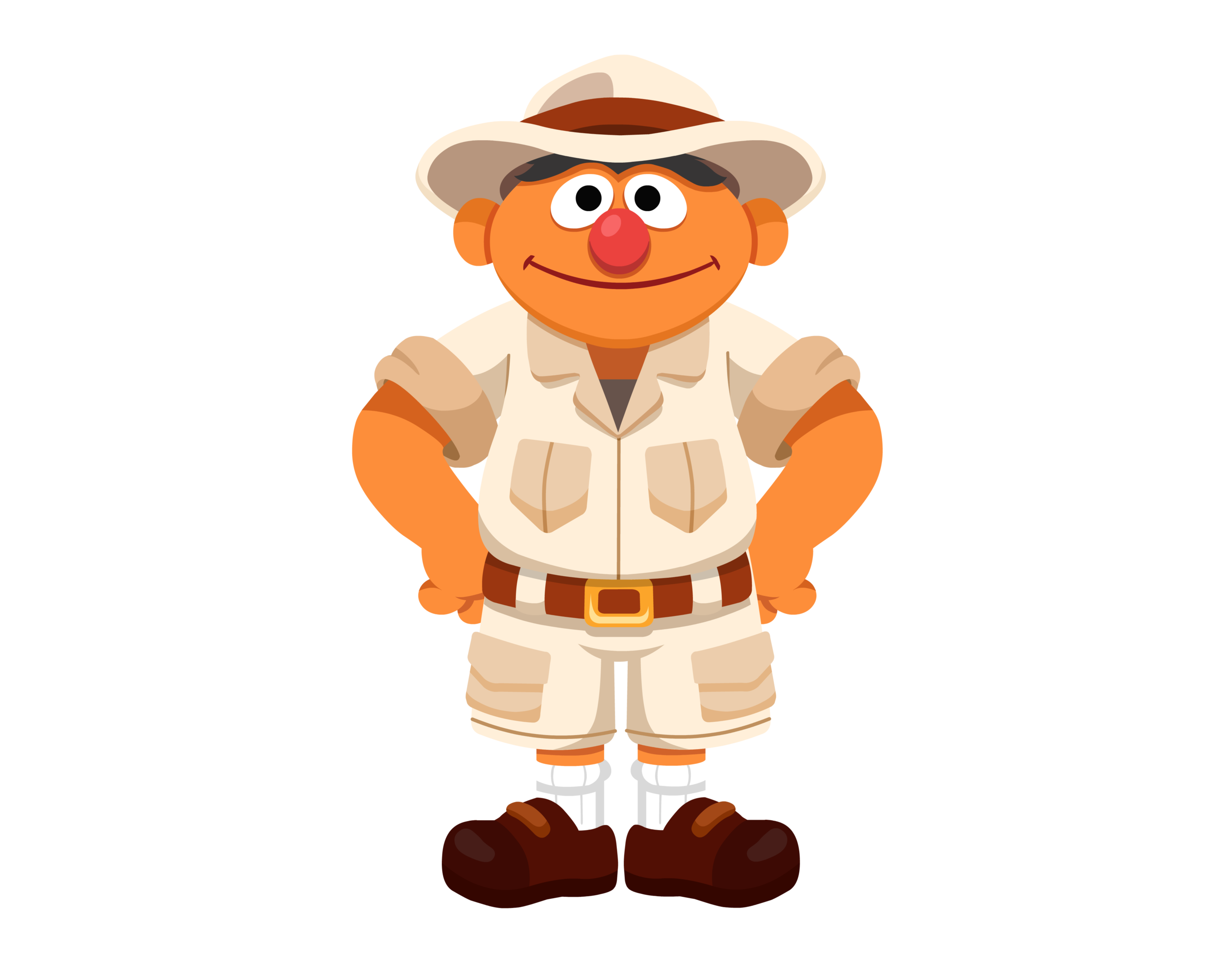 Character design and costume for Sesame Street web game