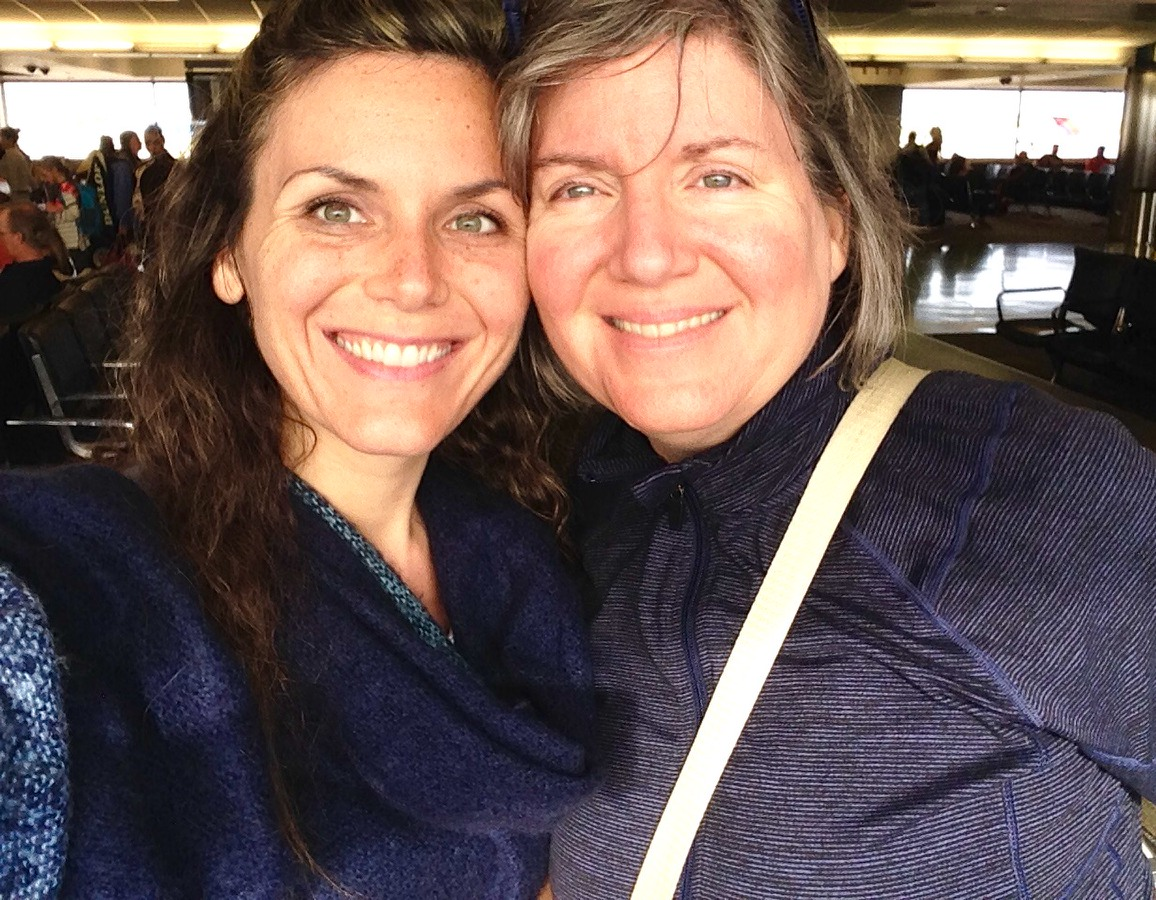 Alexandra Borzo and proud Mom Sherry on our way to Lima, Peru where Alex lives now!