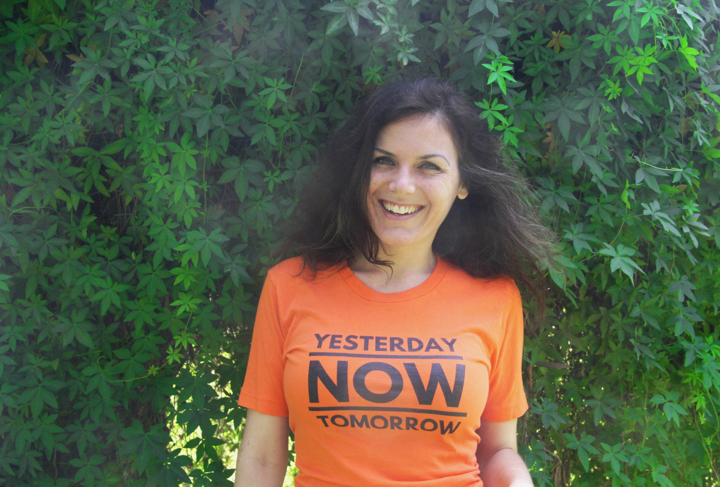 Alexandra in Wearable Wisdom touting the value of living in the present
