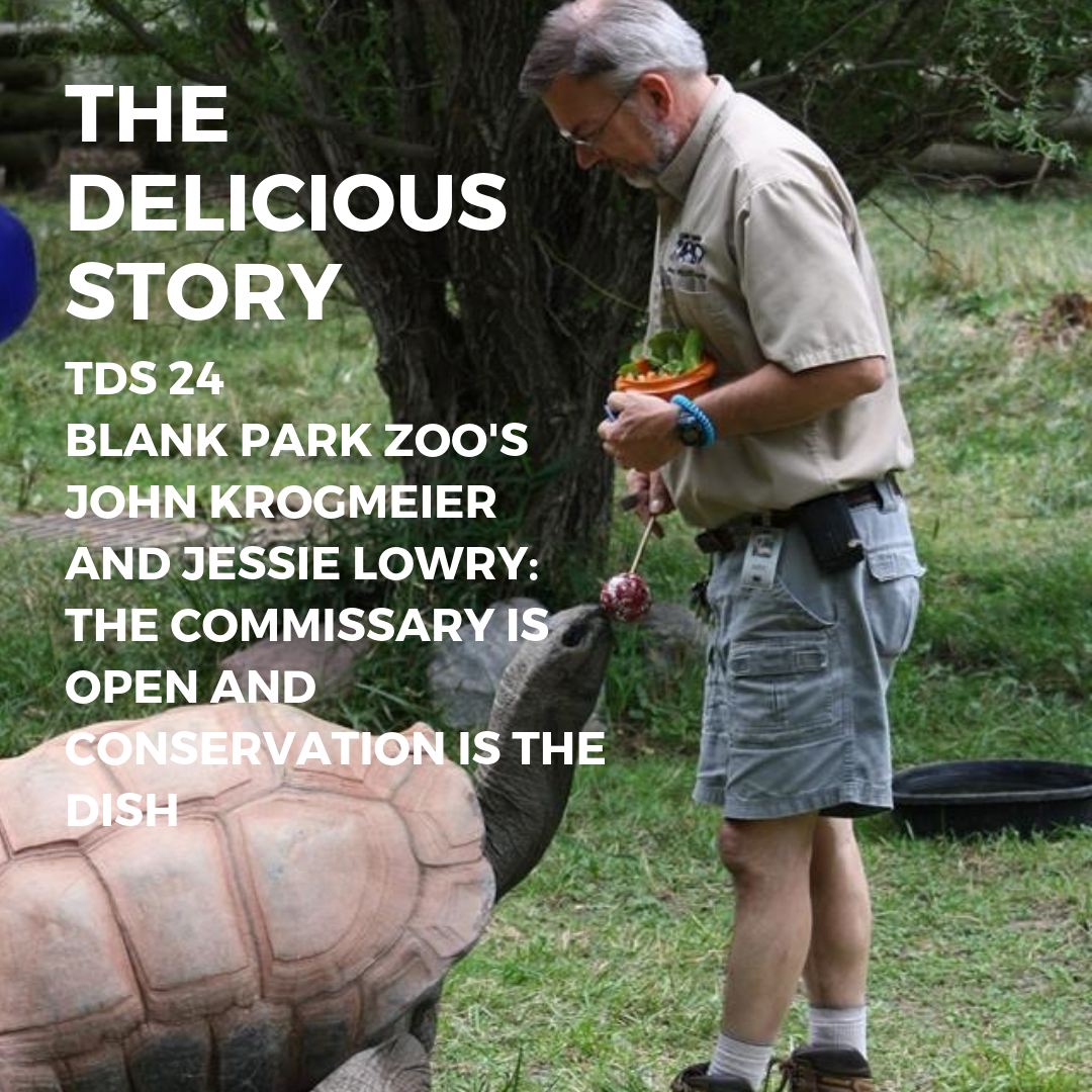 John Krogmeier feeding a tortoise at Blank Park Zoo in Des Moines, Iowa