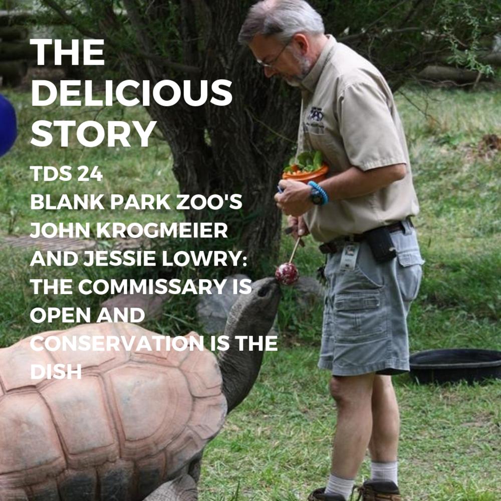 John Krogmeier feeding a tortoise at Blank Park Zoo in Des Moines, Iowa