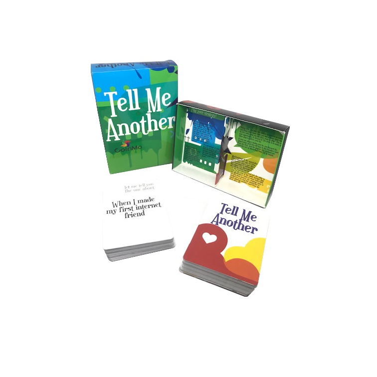 Re-designed Tell Me Another with splashy colors and graphics reflecting the fun of the game. You can click on image to go directly to purchase of the game!